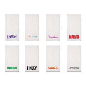 White Personalised Beach Towels Kids Disney Marvel Fortnite Starwars Font Themed