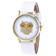 Quartz Watch White Women's Gold Owl Analog