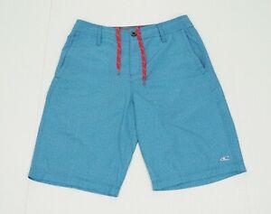 O'neill Hybrid Blue Striped Casual Tech Blend Hybrid Shorts Mens 30
