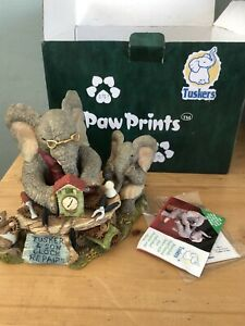 """1998 Tuskers Elephant""""Time For Repair """"Paw Prints Limited Edition Boxed"""