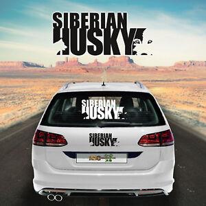 Autoaufkleber Husky M2 Aufkleber fürs Auto Sticker Autofolie Hund Car Sticker