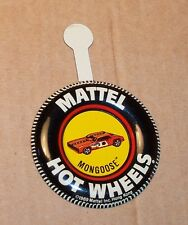 HOT WHEELS Mattel Vintage Redline MONGOOSE FUNNY CAR Tin Button Badge NICE