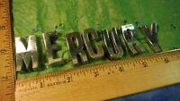 AE75 Mercury Hood Trunk Letter Emblems Vintage 1957 MERCURY MONTEREY MONTCLAIR