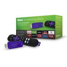 NEW Roku TV Streaming Media Digital Player HD HDMI Smart Channels Movies 3 free