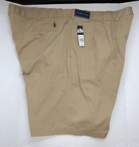 Polo Ralph Lauren Tyler Shorts Big Men 50B Pleated Khaki Beige $69.50 NWT New BT