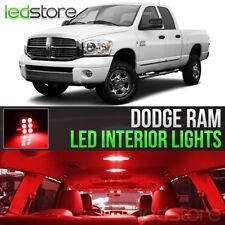2006-2008 Dodge RAM 1500 2500 3500 Red Interior LED Lights Kit Package