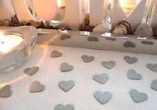 Streudeko Herzen Herz silber Kommunion Taufe Konfirmation Hochzeit Tischdeko