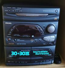 Musikanlage Philips FW335 inkl. Lautsprecher, CD-/Kassettenlaufw.
