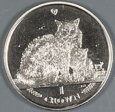 "Isle of Man 2015 ""Selkirk Rex Cat"" 1 Crown Coin"