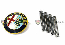 Alfa Romeo 156 front logo grille badge 60596492 & Chrome Effect Door Lock Pins