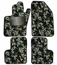 Armee-Tarnungs Autoteppich Autofußmatten Auto-Matten für Fiat 500X ab 2014