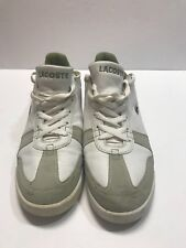 LACOSTE SPORT WHITE WITH GREEN NICE SHOES SIZE 10