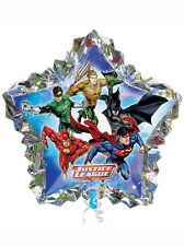 "Super Heroes Liga De La Justicia Fiesta De Cumpleaños Foil Balloon 34"" Supershape gigante"