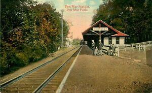 Postcard Pen Mar Railroad Station, Pen Mar Park, Maryland