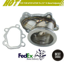 """For GT25 GT28 T25 T28 Turbo Down Pipe 5 Bolt to 2.5"""" V band Flange Adapter New"""