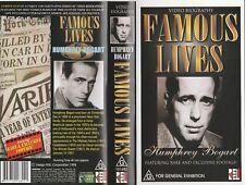 FAMOUS LIVES HUMPHREY BOGART  AS NEW RARE  PAL VHS VIDEO