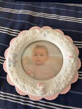 Baby Girl Ceramic Picture Frame- Round 6.5 inches 00006000