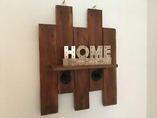 Reclaimed palette étagère en bois, industriel fer Steampunk Style Loft étagère. rustique
