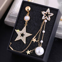 Asymmetrical Hot Korean Earrings Temperament Women Star Earrings Fashion