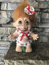 Troll Doll! Unmarked! Molded & Painted! Honey Hair Blue Painted Eyes! Unique!