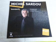 MICHEL SARDOU - LE CHOIX DU FOU !!!!!!!!!!PLV 30 X 30 CM !!INSTORE PAPER DISPLAY