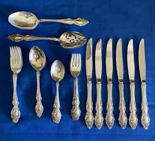 1881 Rogers Oneida BAROQUE ROSE Silver Plate Flatware Set- 32 Piece Untarnished