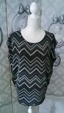 "Tunique Blouse ""Promod"" Lurex Loose So Chic Taille 42/44"