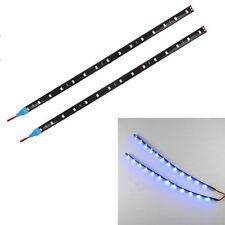 2PCS 12 LED 30cm 5050 SMD Flexible Strip Eyebrow Light 12V Car Decor Waterproof