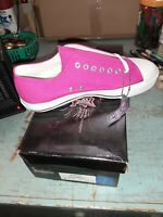 Brand New Canvas Demonia Red Sneakers Womans 7 Gothic Mens 5