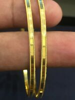 Classy Dubai Handmade Bangles Bracelet In Solid 916 Stamped 22Carat Yellow Gold