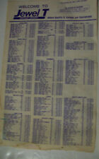 VTG~ORIGINAL~Nov 9 1980~JEWEL T Discount Grocery~Price List~Printed Both Sides