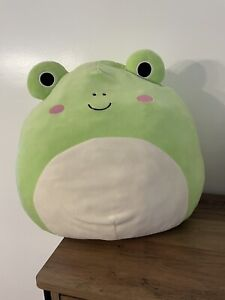 """SUPER RARE 2017 Squishmallow Wendy The Frog 16"""" Inch Kellytoy VHTF"""