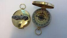 Triumph TR5 Roadster ref270 pewter effect car emblem on a Golden Compass