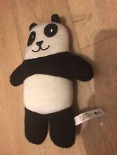 "11"" PANDA black & white soft comforter soother toy teddy bear Tiger Copenhagen"