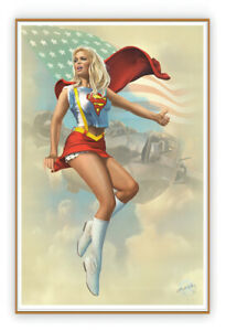 🇺🇸PIN-UP # 66 -1st.Edition Enhanced Giclee A/P, Painted, Signed by KOUFAY, COA