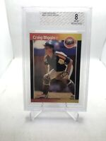 CRAIG BIGGIO HOUSTON ASTROS HOF 1989 DONRUSS RC #561 BGS 8 (18GR1)