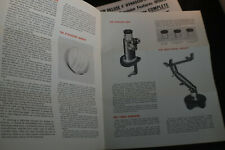 Ca 1960 Two Criterion 4 Inch Dynascope Reflector Telescope Brochures