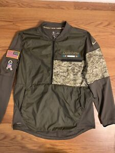 Nike Shield Miami Dolphins Pullover Jacket Mens Size L Salute To Service USA