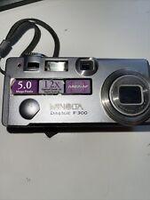 Minolta Dimage F300 Silver Digital Camera