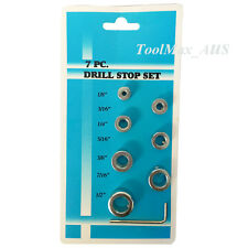 """7PC Imperial Drill Stop Set 1/8""""  -1/2"""""""