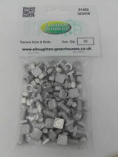 Two packs x 50 Greenhouse Nuts & Square Bolts Elite Greenhouses Nuts and Bolts