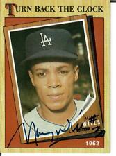 MAURY WILLS Autograph - Signed 1987 Topps  #315 card - DODGERS!