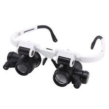 LED Watch Repair Magnifier 8X 15X 23X Double Eye Head Wearing Magnifying Glass