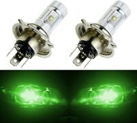 LED 30W 9003 HB2 H4 Green Two Bulbs Head Light Replacement Motorcycle Bike