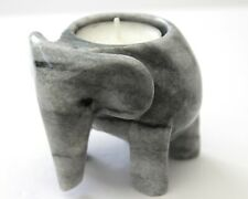 More details for elephant grey with black streaks  -  marble  candle holder