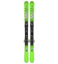 K2 Juvy Skis + FasTrack2 Bindings 2018 - Boy's / Kid's Twin Tip Skis - 119 cm