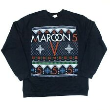 Maroon 5 Snowflake Tacky Ugly Christmas Sweater Sweatshirt - Blue - Xl