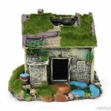 Ornaments With Aquarium Decoration House Cave Fish Tanks Resin Accessories Decor