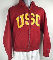 Champion USC Trojans Hoodie Jacket Mens Size Medium Full Zip Authentic Apparel