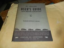 The Automobile User's Guide with Wartime Suggestions - WWII